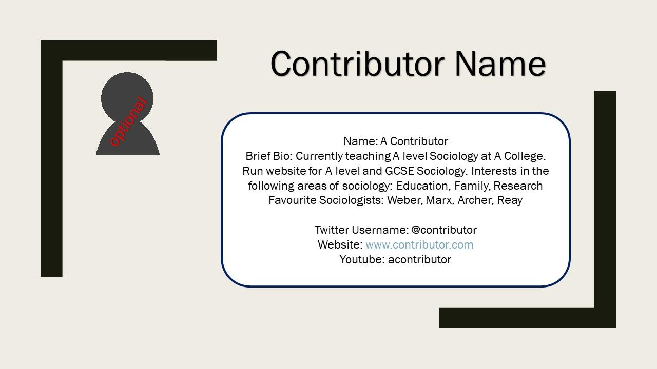 contributor sample